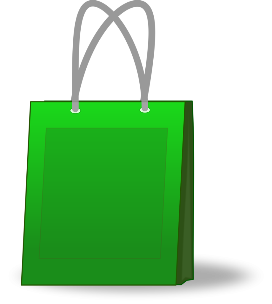 15472-illustration-of-a-green-shopping-bag-pv