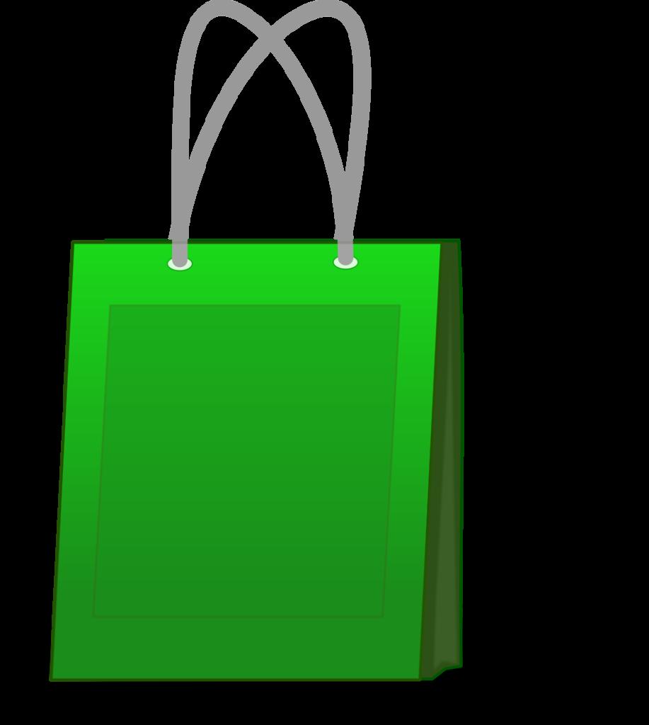 15472-illustration-of-a-green-shopping-bag-pv